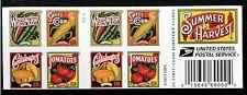 US Stamps SC#5004-5007cd Summer harvest Imperforate Booklet