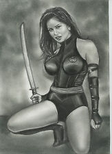 A00304 Psylocke by Cliff *NOT A PRINT* original art drawing X-men comics