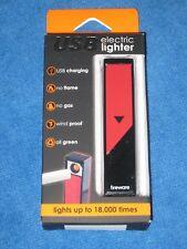 Fireware USB Electric Cigarette Lighter, Red/Black, New!