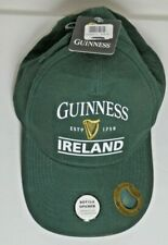 Guinness NEW Baseball Cap With Bottle Opener Bottle Guinness Green, Ireland
