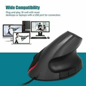 Wired Vertical Ergonomic Mouse 2.4G Vertical Mice 3200DPI 6 Buttons for Computer