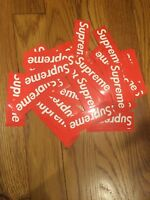 Authentic Red Supreme Stickers Lot Of 10 FAST SHIPPING US Seller