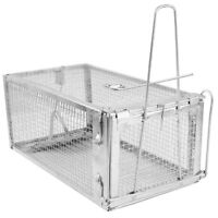 """Animal Trap 10.6""""x5.5""""x4.3"""" Steel Cage for Small Live Rodent Control Rat Mice"""