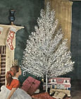 Aluminum Christmas Tree 6 1/2 ft. 100 branches In Sleeves Silver Forest Complete