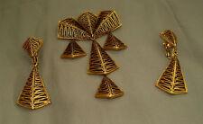 VENDOME Vintage Textured Dangle Pin & Earring Set