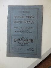 1920s Eisemann 6 cylinder magneto booklet for Chrysler Studebaker Packard Reo