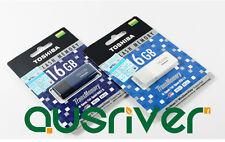 Toshiba 16GB USB2.0 Flash Drive UHYBS-016G-BL Thumb Key Pen Blue Windows MAC