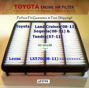 Engine Air Filter For Toyota Tundra Sequoia Land Cruiser Lexus LX570 US Seller