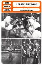 FICHE CINEMA : LES GENS DU VOYAGE - Rosay,Brulé,Feyder 1938 People Who Travel