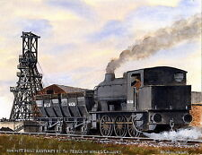 Hunslet Built Austerity Prince of Wales - Ltd Ed Print - Pit Pics - Coal Mining