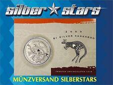 1 DOLLAR Silber Känguru / Kangaroo 2003 1 OZ  BLISTER