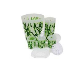 Articles et textiles verts en bambou pour la salle de bain