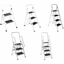 2 3 4 Step Ladder Anti-Slip Rubber Mat Tread Steel Folding Iron Frame DIY