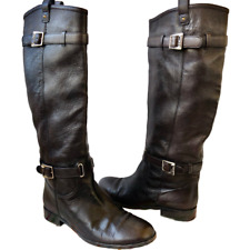 Christian Dior Dark Brown Flat Knee High Boot Pull On Womens 41 10