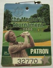 WEEKLY ENTRACE BADGE 2000 MEMORIAL TOURNAMENT-TIGER WOODS WIN  NICE