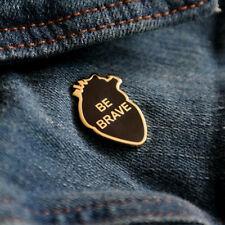 Alloy Be Brave Pin Badge Corsage Cartoon DIY Brooch Cute Jewellery