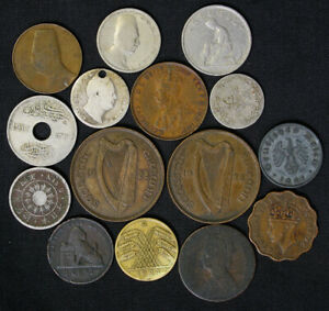 Lot of 15 Old World Foreign Coins 1800's to early 1900's