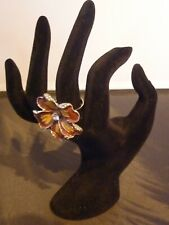 Girls Jewellery Gift Costume Ring Flower Style Silver Tone Womens