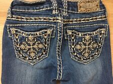 LA Idol Jeans Girls Size 8 Blingy Pockets 25 Inseam