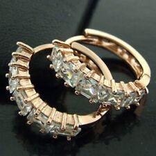 Diamond (Imitation) Huggie Fashion Earrings