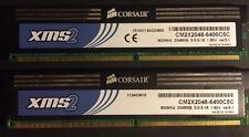 Corsair xms 4GB 2X2GB DDR2 PC2-6400 800MHz 240p NON ECC CM2X2048-6400C5C Ver3.3