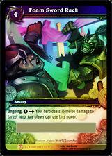 WoW Warcraft FOAM SWORD RACK LOOT Card - toy box item