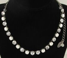 Cup Chain Necklace - Classic Pearl Crystal Necklace made w/ Swarovski Pearls