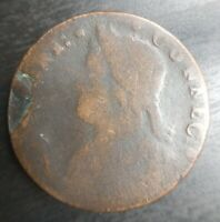 1788 or 1787 CONNECTICUT MAILED BUST LEFT COLONIAL - CIRCULATED Large Cent