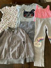 girls clothes bundle 5-6 years Jacket Dress Leggings T-shirt Vest 6 Items