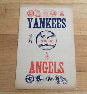 New York Yankees 1967 Scorecard April 30 California Angels Mickey Mantle Walkoff