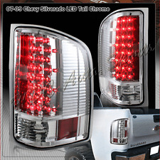 For 2007-2013 GMC Sierra 2500HD 3500HD LED Chrome Housing Rear Brake Tail Lights