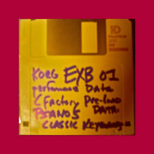 korg exb 01 Pianos Classic Keyboards  PRELOAD FLOPPY disc Performance Data