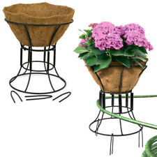 2pk Coco Garden Plant Stand & Hose Guide 12 Inch Outdoor Standing Flower Planter