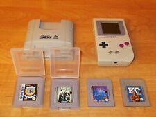 Nintendo Gameboy Classic 1989 + 4 Spiele Tetris Addams Family ..+ SuperGB f.SNES
