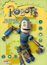 Robots coloring book RARE UNUSED