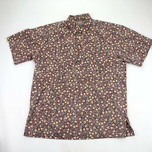 Reyn Spooner Half Button Down Shirt Mens