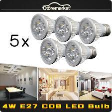 5x  LED E27 Energy Saving Cool White Light Bulbs Super Bright Lamp 4W 110V-240V