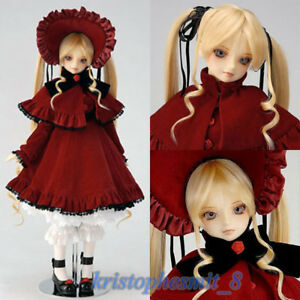 "1/3 BJD Doll Vs Shinku Rozen Maiden 21.6"" All Set Make Up Clothing Wig Shoes"