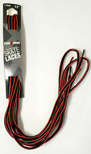 "New Pair Criss Cross High Performance Skate Laces,72"" Black& Neon Orange Stripe"