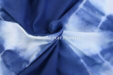 Indigo Sewing Fabric By The Yard Shibori Tie Dye Cotton Voile 5 Yards Upholstery