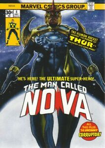 2018 Marvel Masterpieces What If? Parallel Card #WI-38 Nova /999