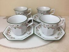 Johnson Brothers Eternal Beau 4 x Tea Cups & Saucers Mint Condition