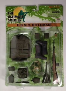 Ultimate Soldier Vietnam USMC Rifleman Uniform Set 1:6 M14 Rifle 1997 SEALED