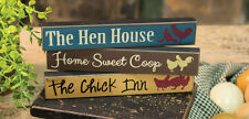 The Chick Inn, Home Sweet Coop, The Hen House, Mini Signs, Set of 3