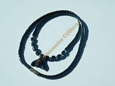 Collier Hématite pendentif Queue de Baleine Hématite 3D