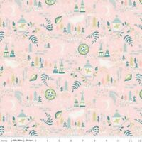 Riley Blake Neverland Peter Pan Pink Stars Fabric FQ or More 100/% Cotton