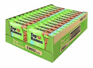Nissin Top Ramen Noodle Soup Chili Flavor 3.2 Oz Each 12 Packs