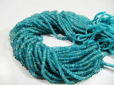 """Natural Apatite Beads, Rondelle Faceted Beads, Size 5mm 13"""" Strand,FREE SHIPPING"""