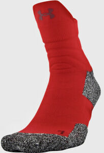 UNDER ARMOUR UA Drive Red Black Grey Quarter Basketball Socks NEW Mens L 9-12.5