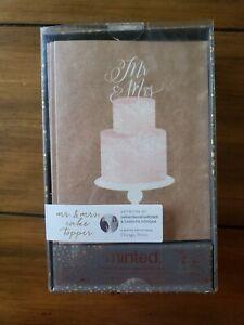 Minted Mr. & Mrs. Cake Topper 20 Notecards & Envelopes